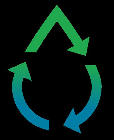 world power energy logo blå og grønn