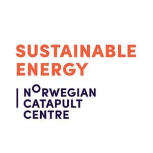 Sustainable energy logo sort og orange