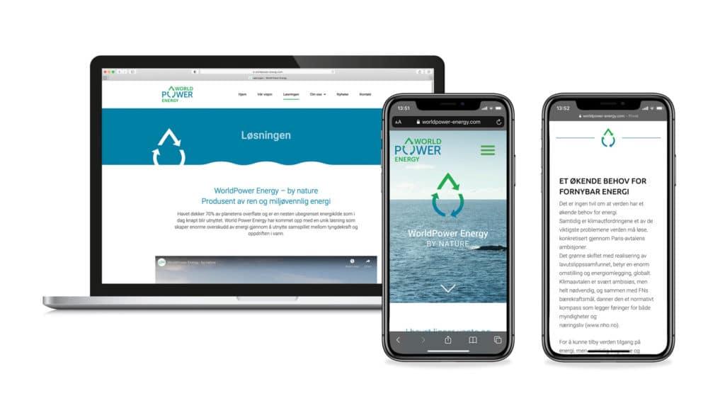 WorldPower Energy hjemmeside
